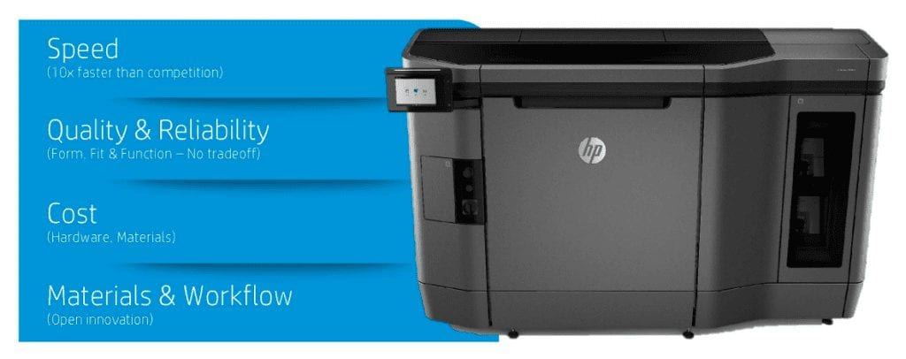 HP Jet Fusion 3D Printer Özellikler